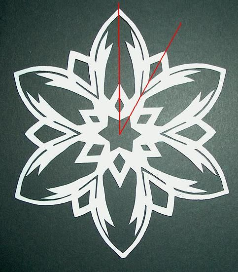 How to Make Paper Snowflakes Step 10