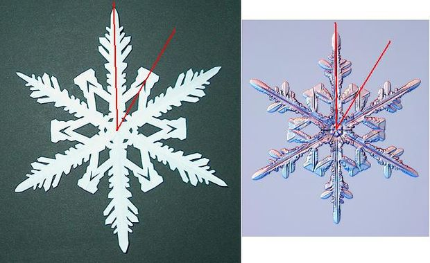 How to Make Paper Snowflakes Step 11-b
