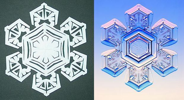 How to Make Paper Snowflakes Step 11