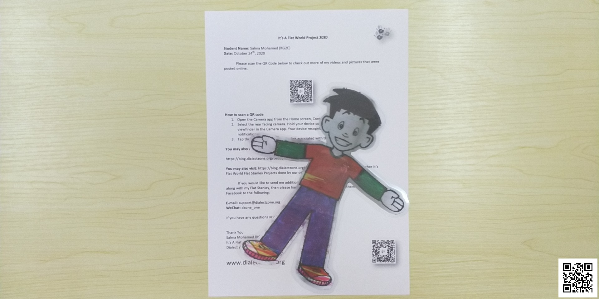 Salma Mohamed – Bedayia's Flat Stanley Project
