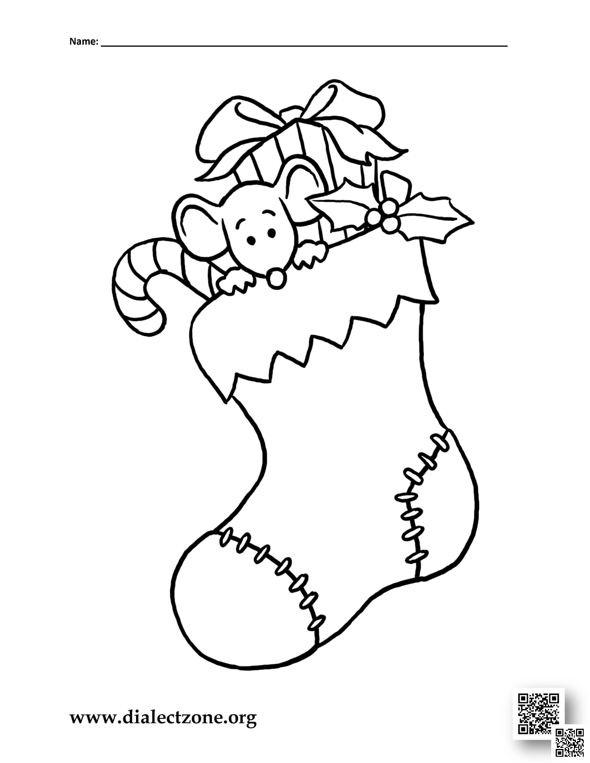 Christmas Stocking – Christmas Coloring Page