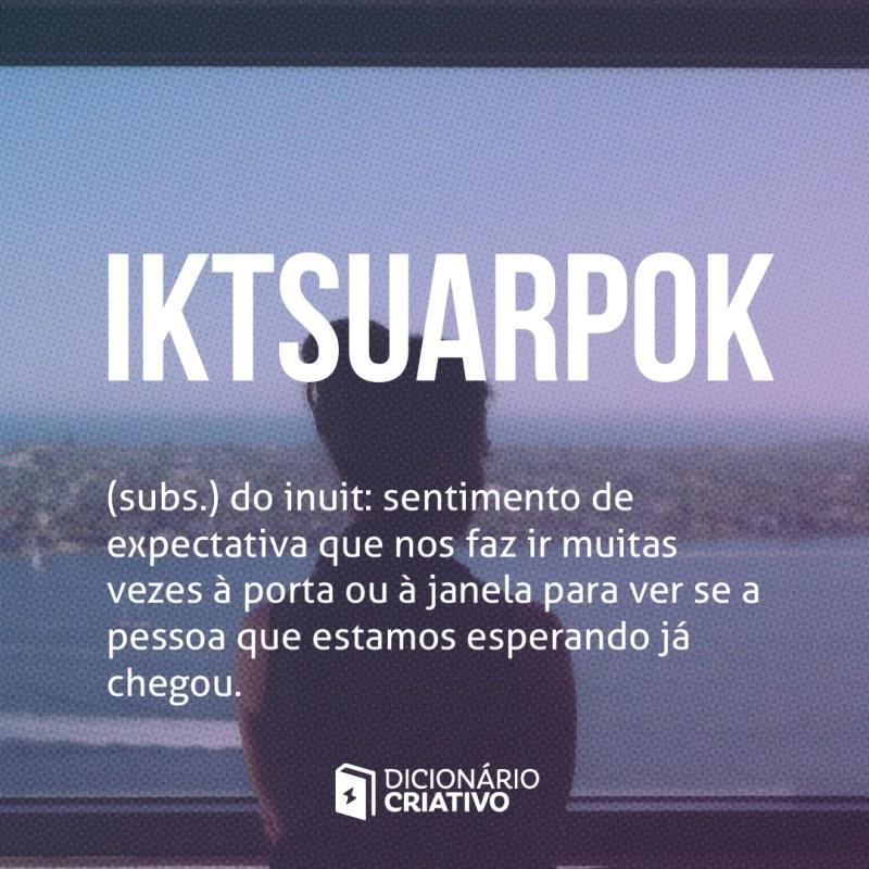 Iktsuarpok palavras de amor