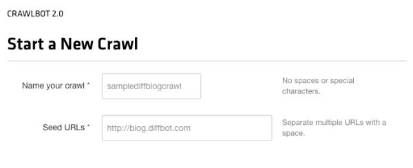 Crawl basics: a name and a started (seed) URL