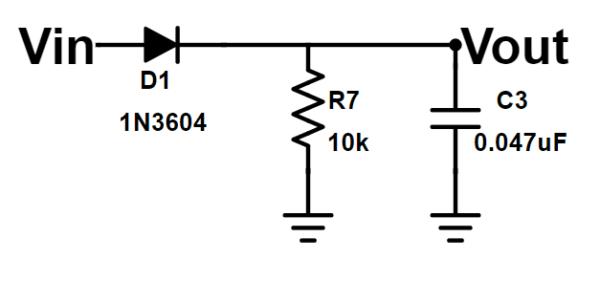 figure 2 simple envelope detector circuit and example demodulation