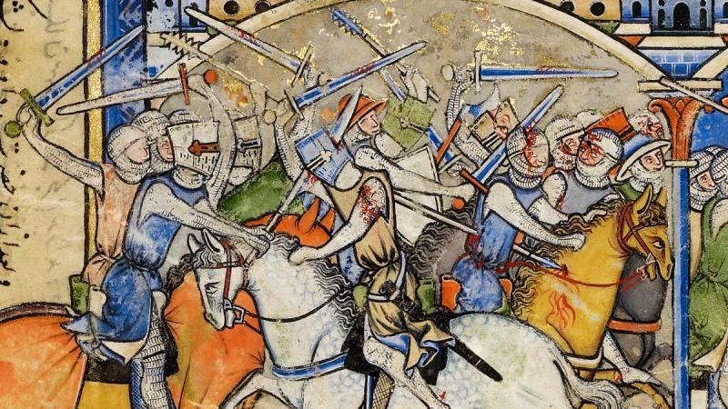 Crusaders from the Morgan Bible