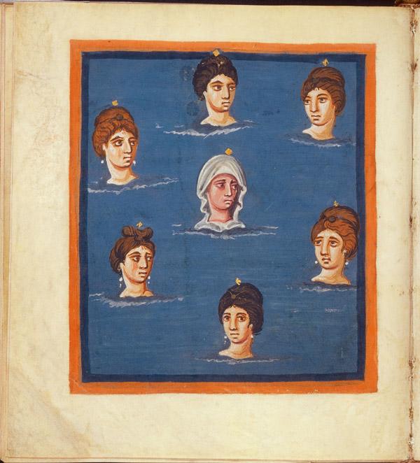 Pleiades in folio 42v Leiden Aratea