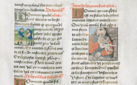 DE NATURA RERUM [MS. 411] - Detail from the Public Library of Bruges