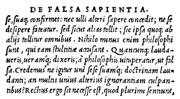 Lucius Caecilus Firmianu Lactantius, De Falsa Sapentia, printed by Aldus Manutius, Venice, 1500 ca.