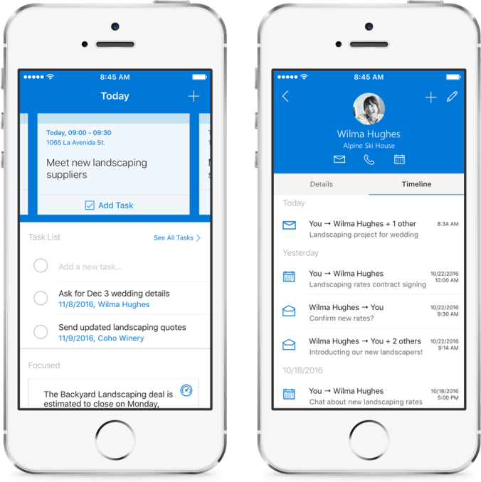 Outlook Customer Manager Mobile