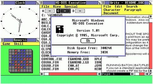 Sistem operasi Windows 1.0