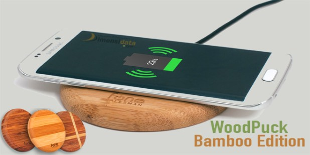 Woodpuck Bamboo Qi Wireless Charger