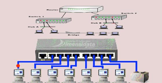 Topologi Switch Jaringan Komputer
