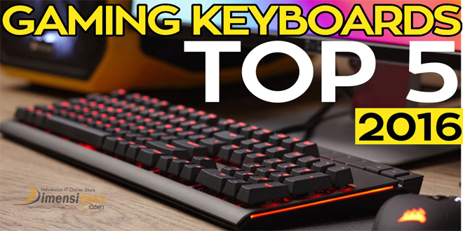 top 5 keyboard gaming terbaik terbaru 2016 murah