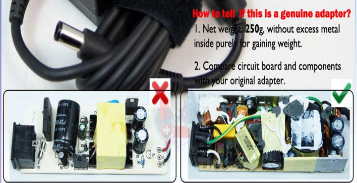 Perbedaan Adaptor Charger Laptop Original Dengan Yang KW