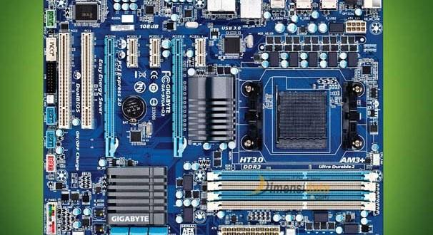 Nama Bagian Komponen Komponen Dalam Motherboard Komputer