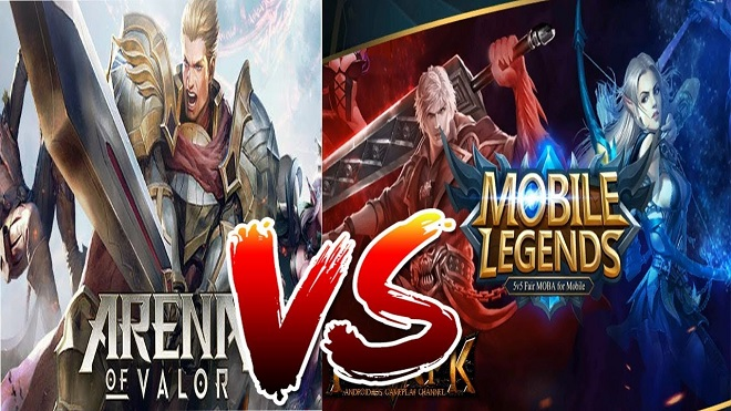 AOV Arena of Valor vs Mobile Legend ML