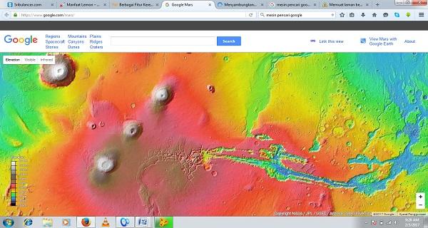 Cara Mudah Menjelajahi Planet Mars dengan Google Mars