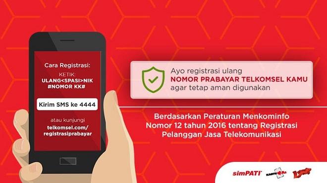 Cara Registrasi Ulang Kartu Perdana Telkomsel