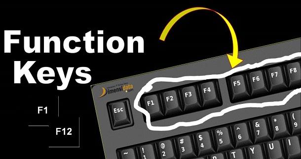 Fungsi Tombol Function Keys F1 Sampai F12 di Keyboard Komputer