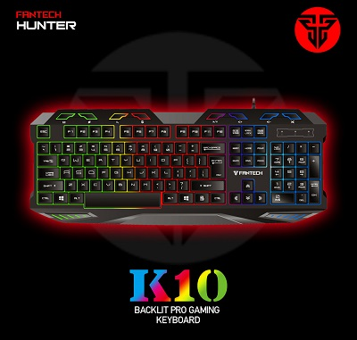 Harga Fantech K10 Hunter Backlit Pro Gaming Keyboard Terbaik