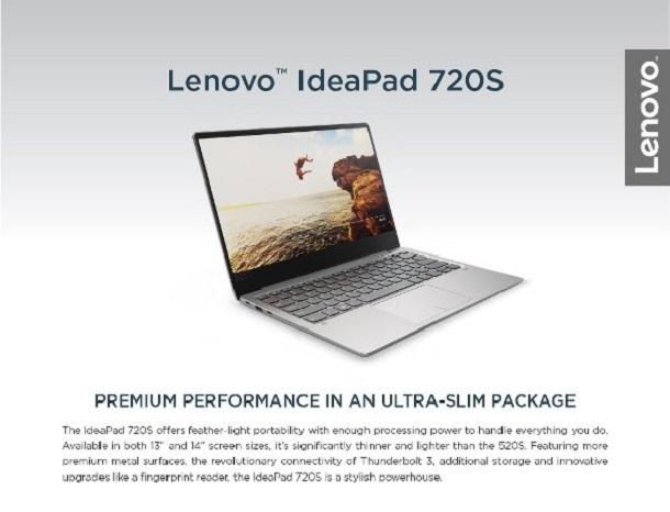 Harga dan Spesifikasi LENOVO IdeaPad 720s-0XID