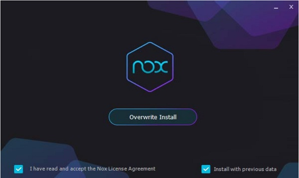 Install Emulator NOX Player