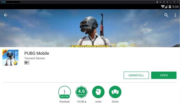 Install PUBG Mobile di Emulator NOX Player