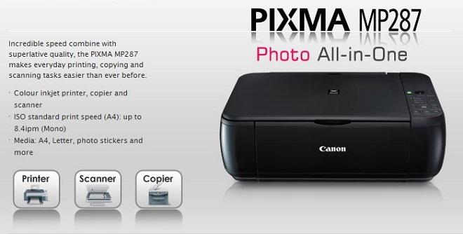 Kelebiahn Spesifikasi Printer Canon PIXMA MP287 Terbaru