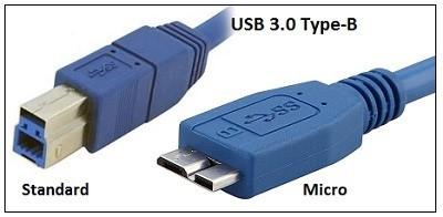 Konektor USB Type-B Standard dan Micro