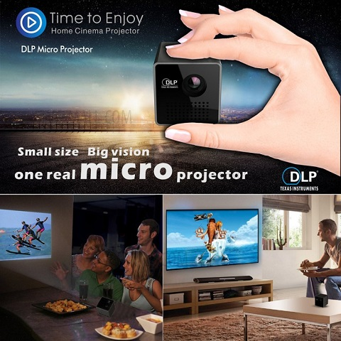 Mini Proyektor Terbaik Harga Murah UNIC P1 DLP