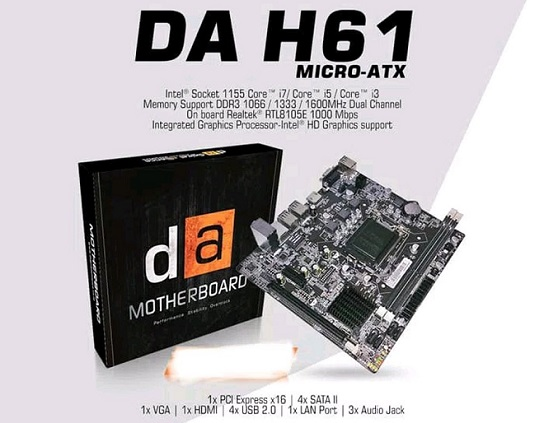 Motherboard Digital Alliance H61 LGA 1155