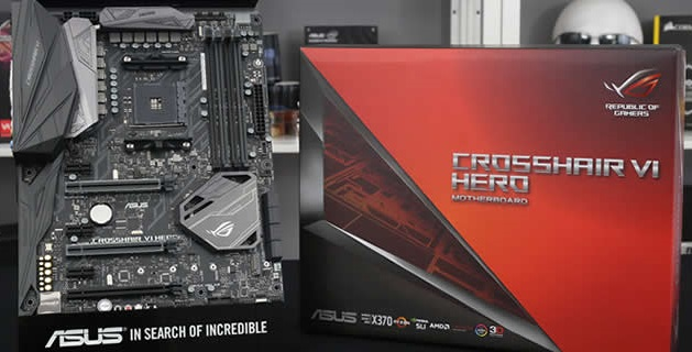 Motherboard Socket AM4 ASUS ROG Crosshair VI AX370 AMD Ryzen