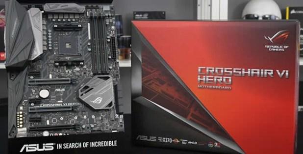 Motherboard Socket AM4 ASUS ROG Crosshair VI AX370 AMD Ryzen