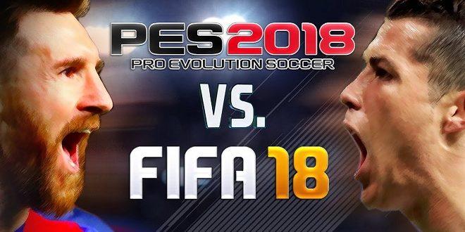 Perbandingan PES 2018 VS FIFA 18, Bagusan Mana?