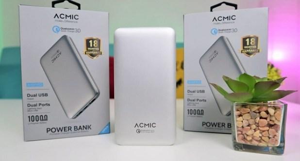 Power Bank Quick Charge 3.0 Terbaik ACMIC A10PRO 10000mAh