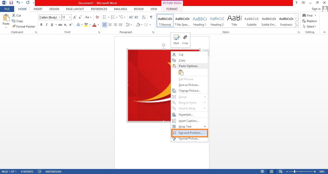 Print Foto Ukuran 2x3, 3x4, dan 4x6 Di Microsoft Word 3
