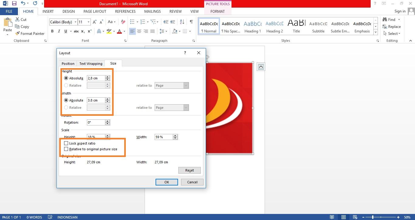 Cara Print Foto Di Microsoft Word Ukuran 2x3 3x4 Dan 4x6 Yang Benar