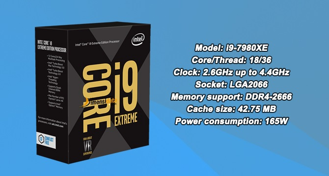 Processor PC Gaming Terbaik Intel Core i9-7980XE