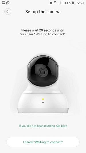 proses menghubungkan CCTV YI Dome ke smartphone