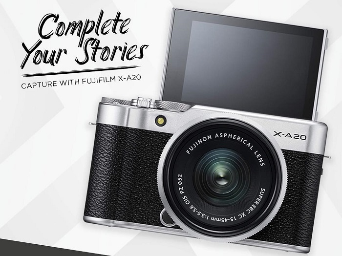 Spesifikasi dan Harga Kamera Fujifilm X-A20