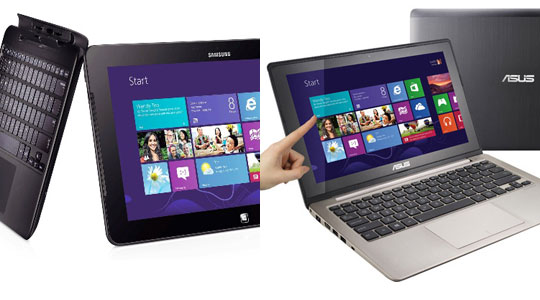 Asus Vivobook vs  Samsung ATIV Smart PC XE500T1C