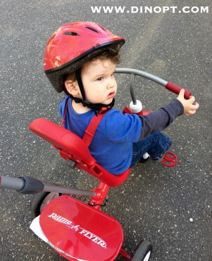 learning to ride tricycle