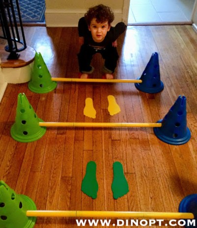 Teaching Children To Jump Dinosaur Physical Therapy