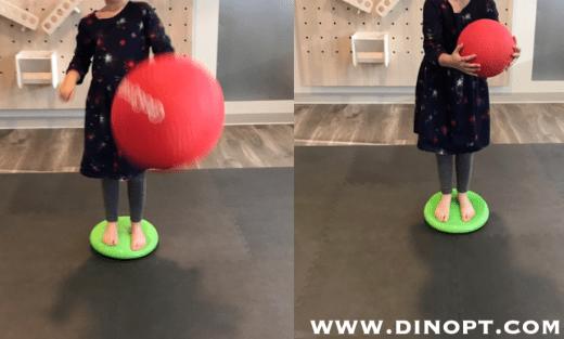 dyna disc ball toss
