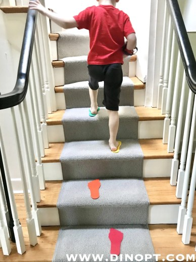 stair climbing kids