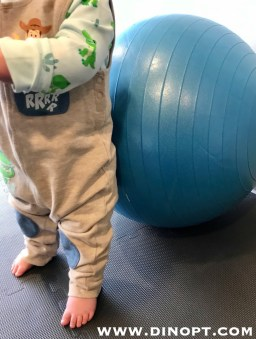 teaching baby to stand