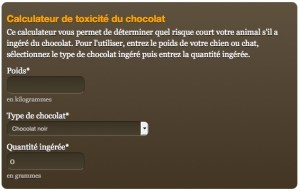 calculateur intoxication au chocolat