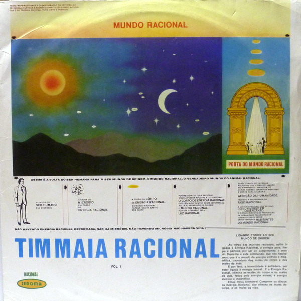 Tim Maia album 'Racional' sleeve artwork