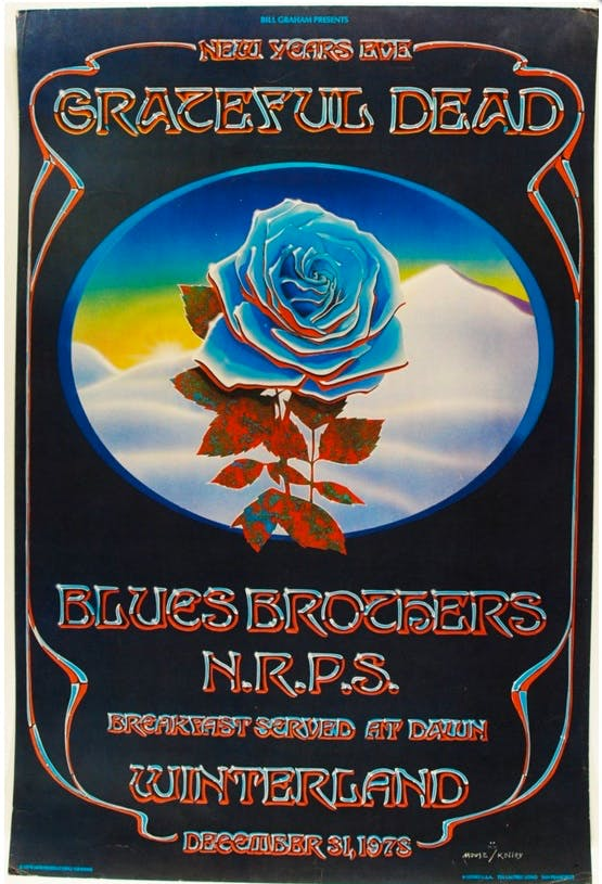 Iconic gig Posters: Grateful Dead San Francisco 1978