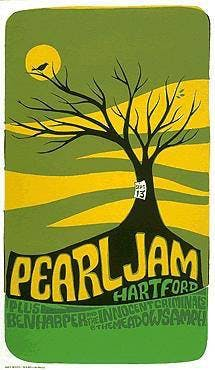 Iconic Gig Posters: Pearl Jam Hartford 1998